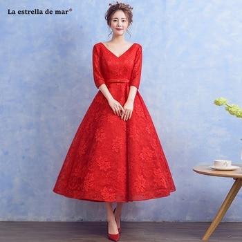 1929523dccd8 Mini vestido de gasa elegante una línea de cuello redondo media manga  vestidos de fiesta de boda ...