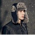 Высокое Качество 2016 зима Теплая Доказательство Ловец Hat, женщины авиатор hat, Русский Hat, спорт на открытом воздухе ушанке bomber шапки для мужчин