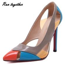 แฟชั่นฤดูร้อนตัดลึกหนาบางของผู้หญิงรองเท้าแตะรองเท้าส้นสูงรองเท้าแต่งงานของบุคคลหญิงหนังpu europeaดาวสีแดงแต่เพียงผู้เดียวรองเท้า