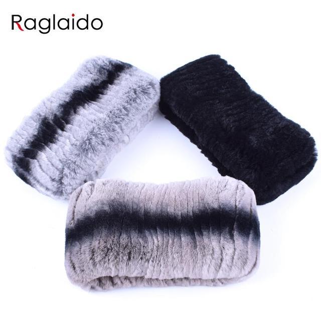 Raglaido Ring Scarves Woman Real Fur Neck Warmer Winter Rabbit  Warm Soft Women's Scarves Luxury Brand Fur Collar Scarf LQ07019