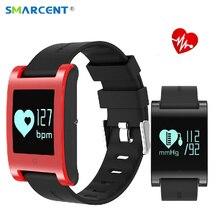 Smarcent DM68 Приборы для измерения артериального давления Монитор Сердечного Ритма Смарт водонепроницаемый браслет для занятий спортом вызовы сообщения часы для телефона