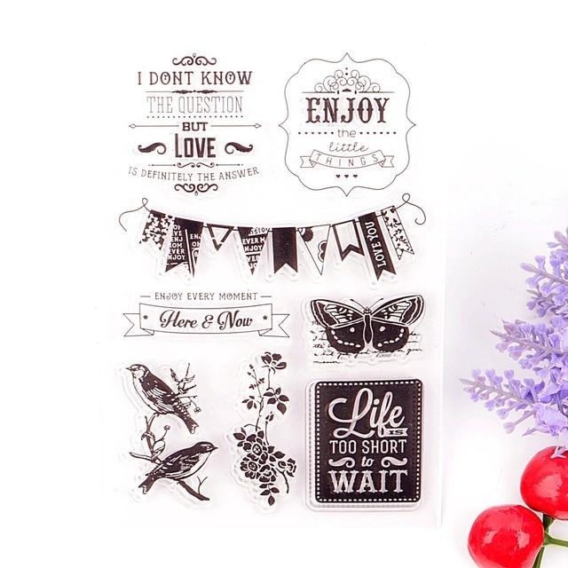 DECORA 1 PZ Farfalla Bandiera Del Silicone di Disegno Trasparente Timbro FAI DA TE Scrapbooking Decorazione Di Natale Forniture