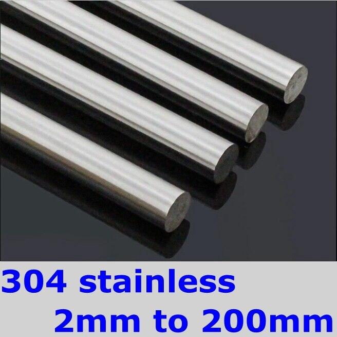 SS304 Stainless Steel Round Bar OD 6mm DIY Hardware Round Rods