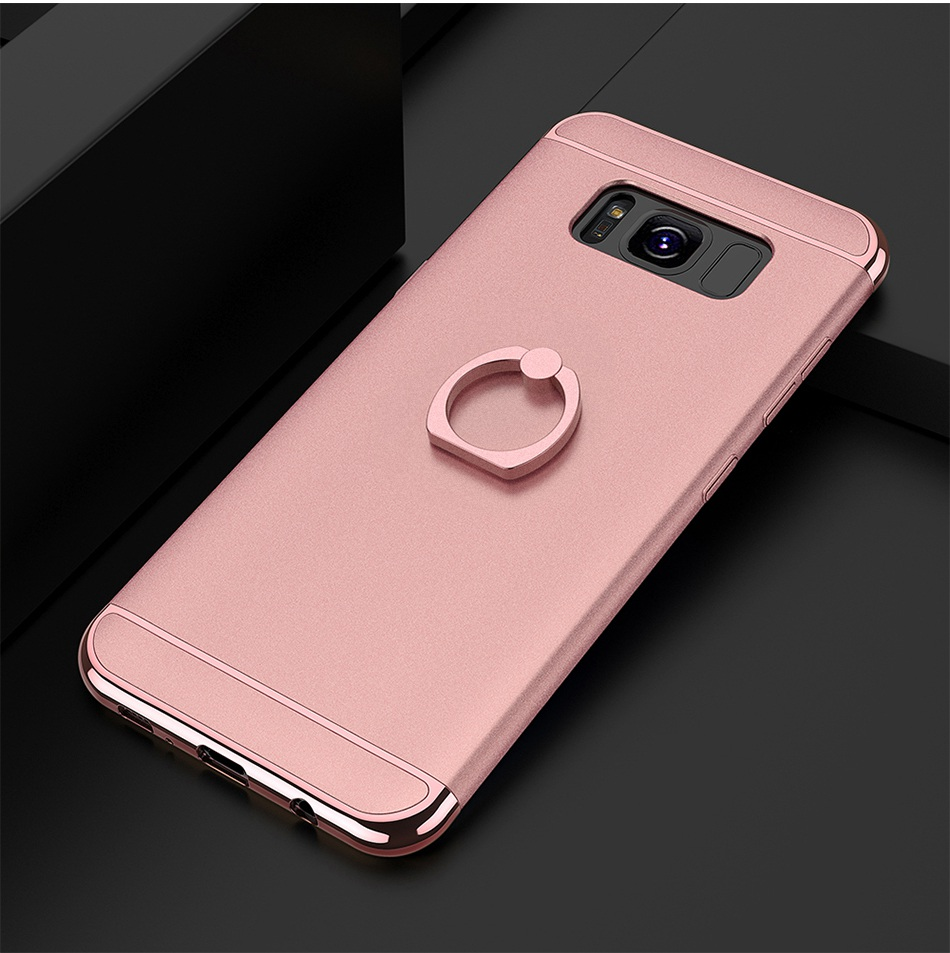 Ring Holder Cover For Samsung Galaxy S8 Plus S8 Case 3 in 1 Combo Armor Stand Phone Bag Cases  (15)