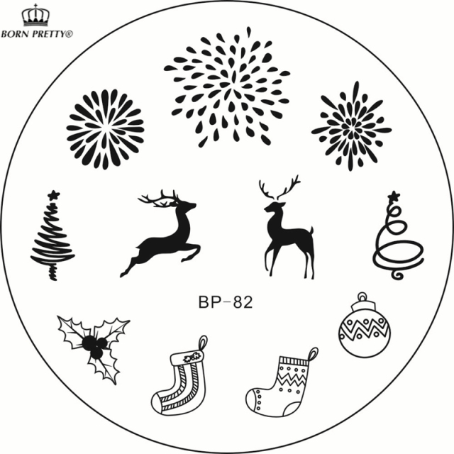 Aliexpress.Com : Buy New Christmas Stamping Plate Bp 82 Xmas Tree