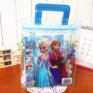Disney 7pcs/set Frozen Pencil case+ruler+pencil+eraser+Booklet+Pencil sharpener stationery Children's Day gift School supplies(China)