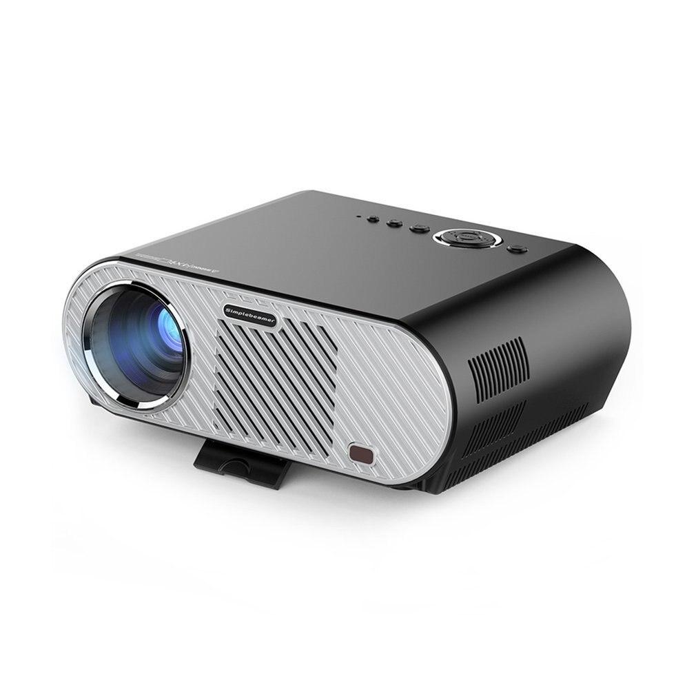 GP90 Mini LED font b Projector b font 1280x800 USB Full HD Video HDMI VGA Home