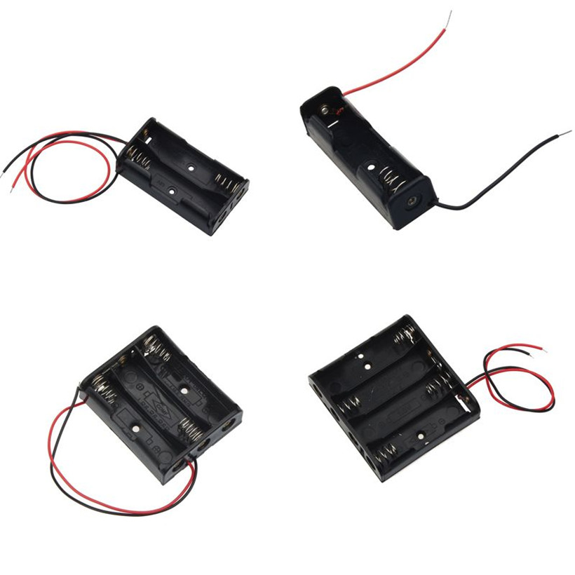 AA Size Power Battery Storage Case Box Holder Leads With 1 2 3 4 Slots drop shipping 0616