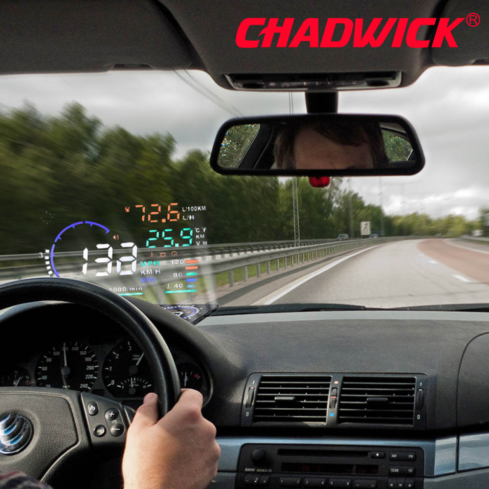 CHADWICK A8 HUD Car Head Up Display LED Windscreen Projector OBD2 Scanner Speed Warning Fuel Consumption Data Diagnostic 5.5inch-in Head-up Display from Automobiles & Motorcycles