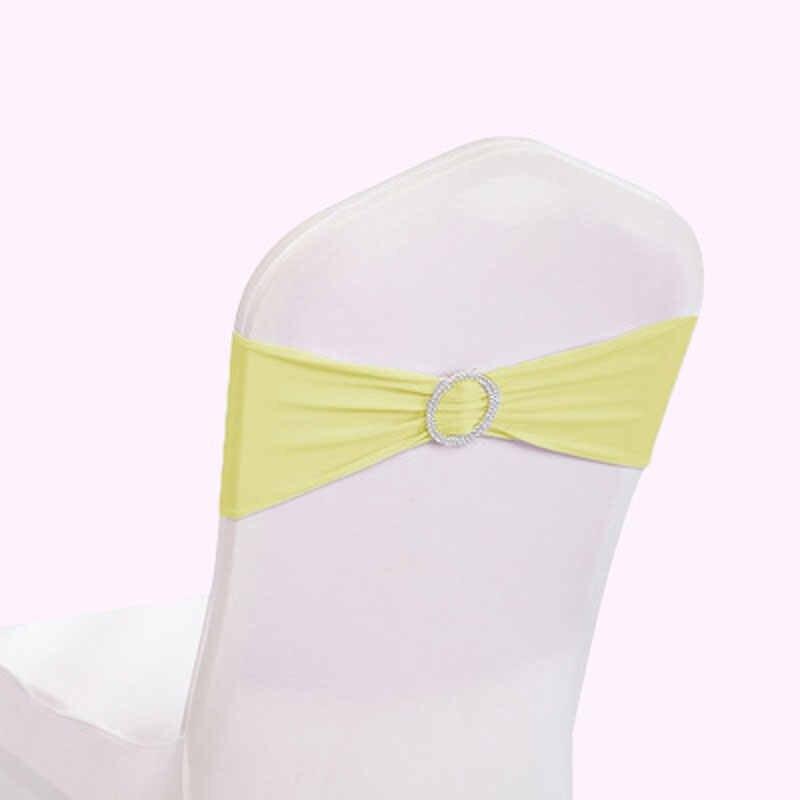 Свадебный Ресторан отеля Банкетный стрейч стул назад обруч Бесплатная галстук-бабочка Назад ремешок обруч назад спинка сидения цветок украшения