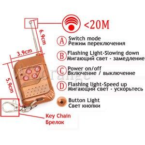 Image 5 - Wireless Remote 4x 3/led Krankenwagen Polizei licht DC 12V Strobe Warn licht für Auto Lkw Notfall Licht flash stroboskop Licht