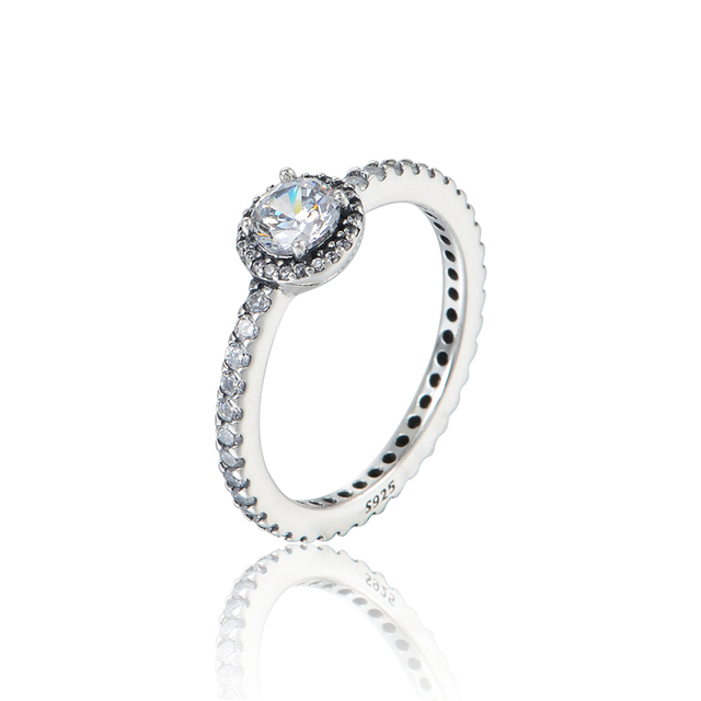 New Classic Elegance Wedding Rings For Women 925 Sterling Silver Jewelry Accessories With Cubic Zirconia Engagement Rings