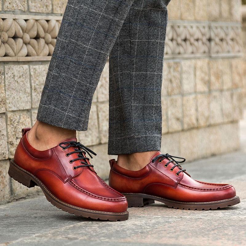 Cepillo Krusdan Negocios Los Brown Hecho red 44 Marca Hombres Completo Grano A Casual Color ~ Mano 38 Vintage Tamaño De Zapatos Cuero Coffee FxXrpCwqx