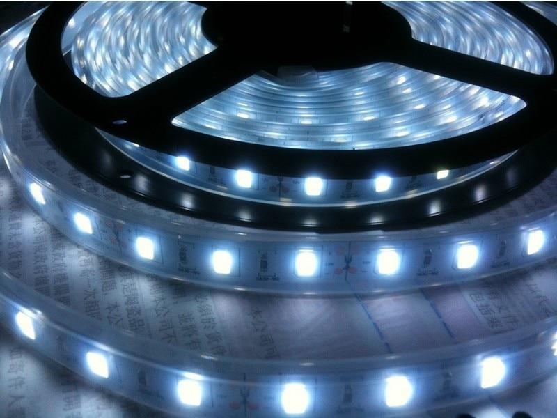 Купить с кэшбэком Waterproof LED Strip 5050 fiexible light 60Led/m,5m/lot DC12V,White,Warm white,Red,Green,Blue,Yellow,RGB,Free shipping