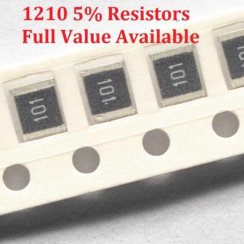 100 Buah SMD Resistor Chip 1210 1.5R/1.6R/1.8R/2R/2.2R Resistance 5% 1.5/1.6 /1.8/2/2. 2/Ohm Resistor 1R5 1R6 1R8 2R2 Gratis Pengiriman