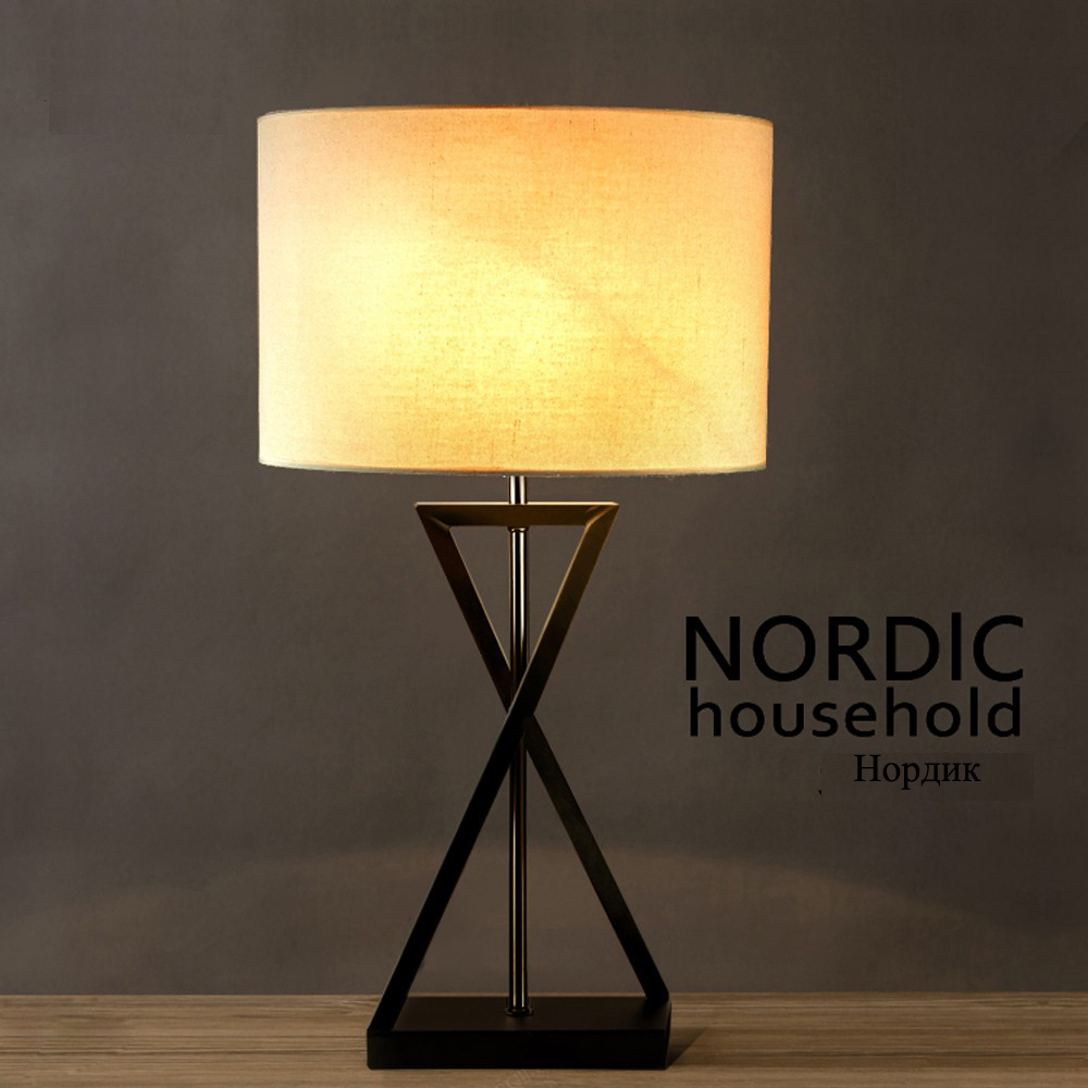 led e27 Korean Iron Fabric LED Lamp LED Light Table Light Table Lamp Desk Lamp LED