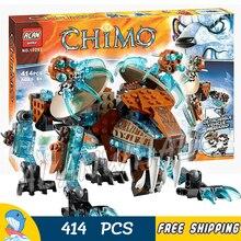414 шт Sir Fangars саблезуб ходунки ледяной Тигр 10293 фигурки строительные блоки фильм детские игрушки совместимы с LegoING
