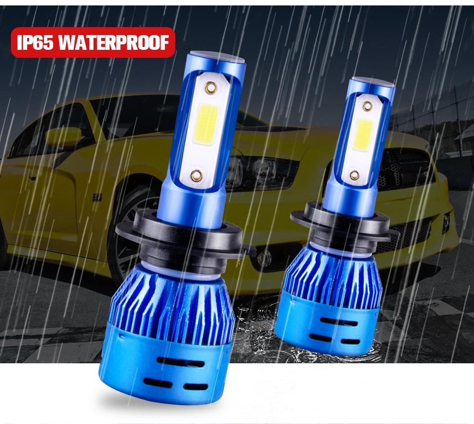 Foxcncar LED ampoule Feu de brouillard H7 H1 H11 9005 9006 fog light auto lamp 4300K COB Chip faro moto Fendinebbia hb3 hb4 12V  (6)
