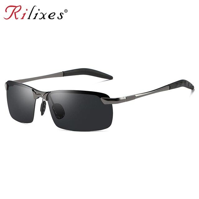 2018 Dos Homens Óculos Polarizados de Alumínio E Magnésio Quadro Car Driving Óculos de Sol 100% Polarizada UV400 Estilo Goggle Eyewear