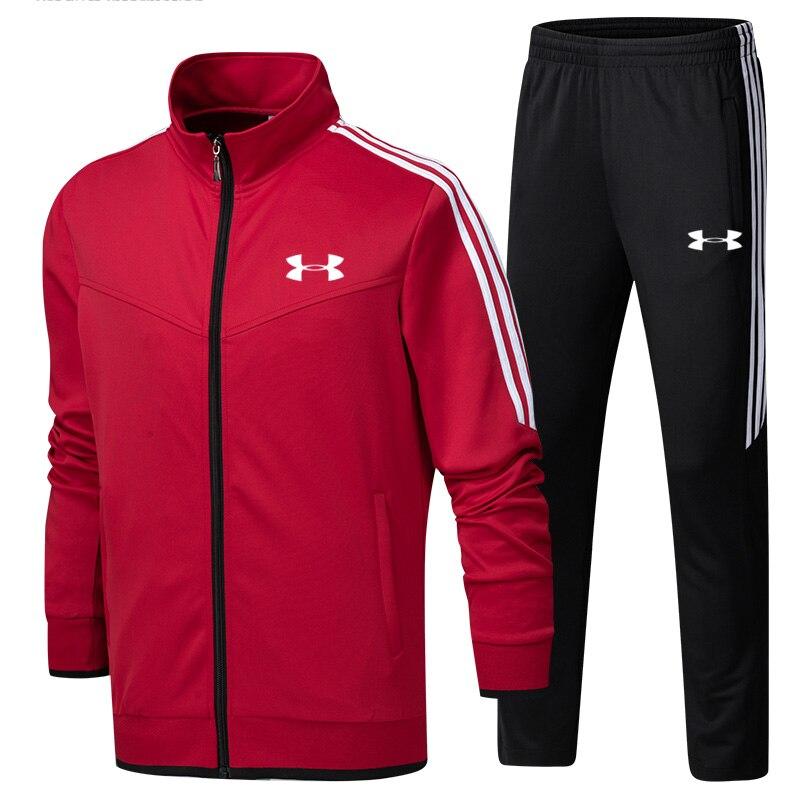 2019 Under Armour hommes veste d'entraînement veste + pantalon survetement homme formation course ensembles sport costumes 2 pièces de haute qualité