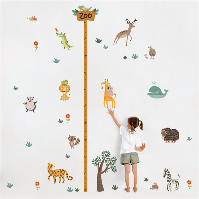 Buy forest jungle wild animals tree for Growth chart for kids room