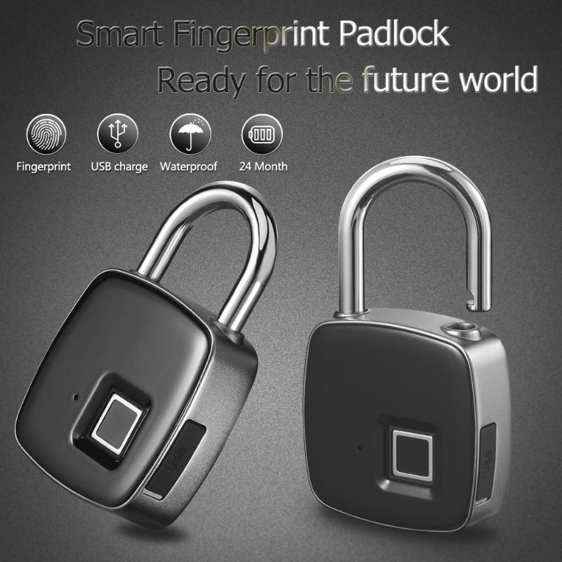 Back To Search Resultshome Improvement Frugal L1 Smart Keyless Fingerprint Lock For Car Motorcycle Bike Waterproof Security Anti-theft Door Suitcase Luggage Padlock