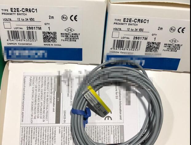 Free Shipping 2pcs/LOT Small proximity switch E2E-CR6C1 M3 three-wire NPN 12V-24V normally open e2e x5mei 5mm npn normal open inductive sensor proximity switch dc 12 24v
