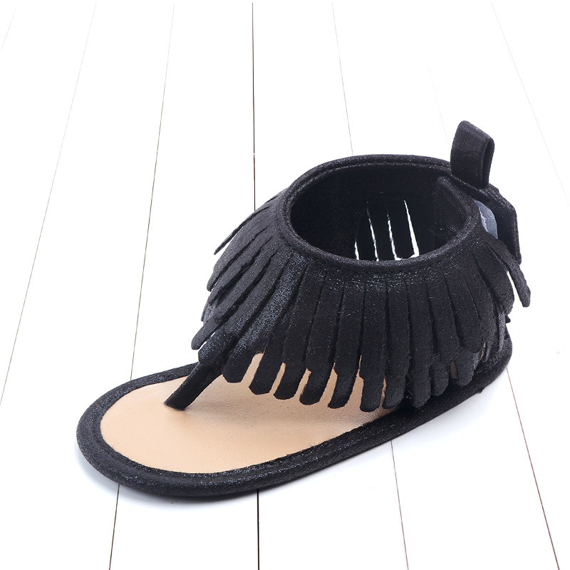 Baby comfortable sandals 2018 summer new boy girls beach shoes kids casual sandals children fashion Baby Girl Tassel Sandals (17)