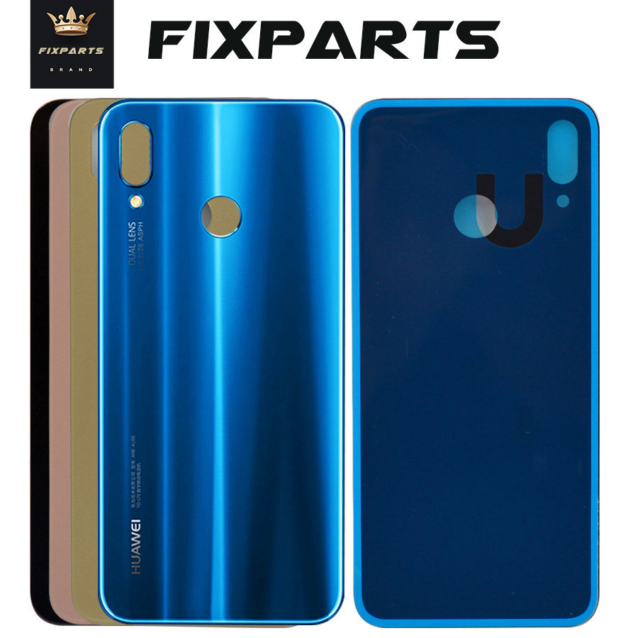Original Huawei Nova 3e P20 Lite Back Glass Nova 3i Battery Cover Rear Door Housing Case Panel Huawei P20 Lite Battery Cover 3