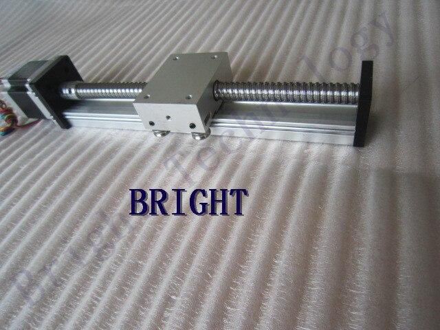 все цены на 12mm linear guide rail SGK 1204 ballscrew effective stroke 600mm linear guide linear rails cnc+23 nema 57 stepper motor SKG онлайн