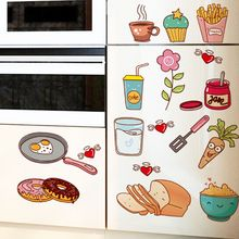 Food Pattern Wall Sticker Self Adhesive Vinyl Removable Decal Kitchen