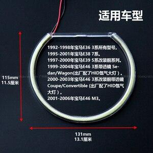 Image 3 - CCFL Kit dyeux dange blanc de 131mm * 4, pour BMW E36 E38 E39 E46 (avec projecteur Original)