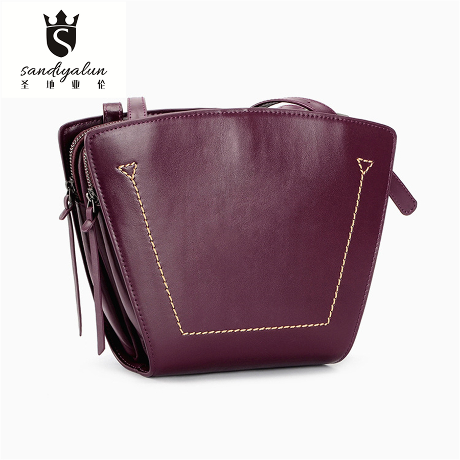 New Arrival Vintage Women Handbags Ladies Crossbody Single Shoulder Bags Top Leather Small Simple Hobos Women's Casual Totes Bag women shoulder bags leather handbags shell crossbody bag brand design small single messenger bolsa tote sweet fashion style
