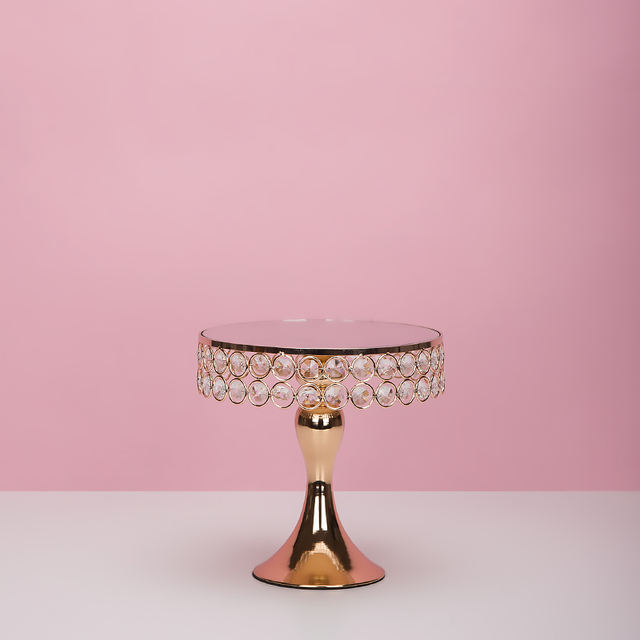 Gold Metal Cake Stand for Wedding