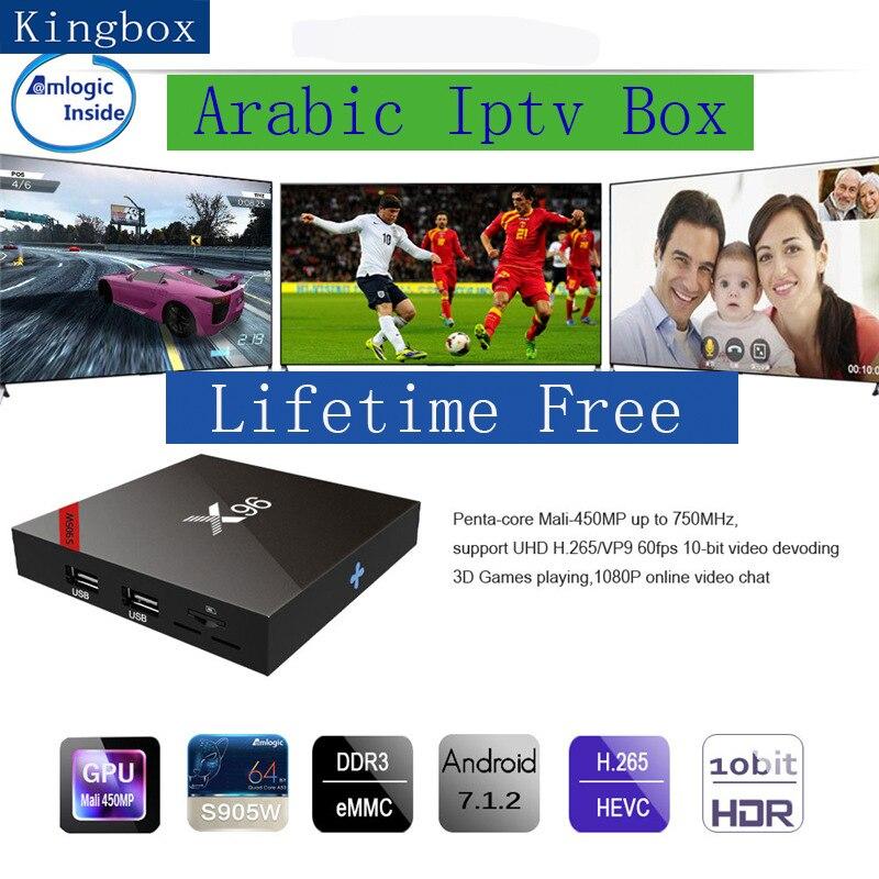 X96 Gratuito per sempre TV box Smart tv iptv arabo durata spedizione 2000 + Arabo Europa Africa America chs buono per Australia svezia