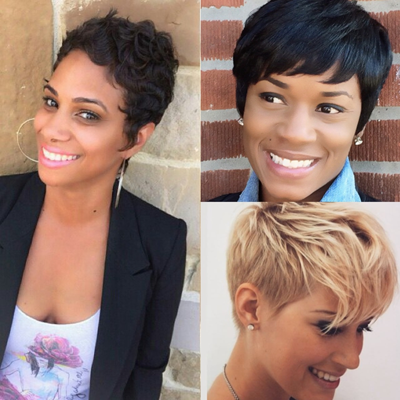 27 pieces short hair weave