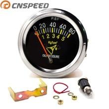 CNSPEED 12 В Автомобильный датчик давления масла 0-80 фунтов/кв. дюйм 52 мм 2 дюйма механический автомобильный масляный пресс-метр Датчик давления масла указатель YC101133