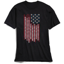 Native Patriots T-Shirt Men USA Flag Print Tshirt Short Sleeve New Coming O-Neck 100% Cotton T Shirt Birthday Top Adult Tee XS цена