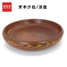 Купить с кэшбэком free shipping factories Western/east/chinese/asian style jujube salad/fruit/Noodles/Sushi/Food Wood dish/plate18-20cm
