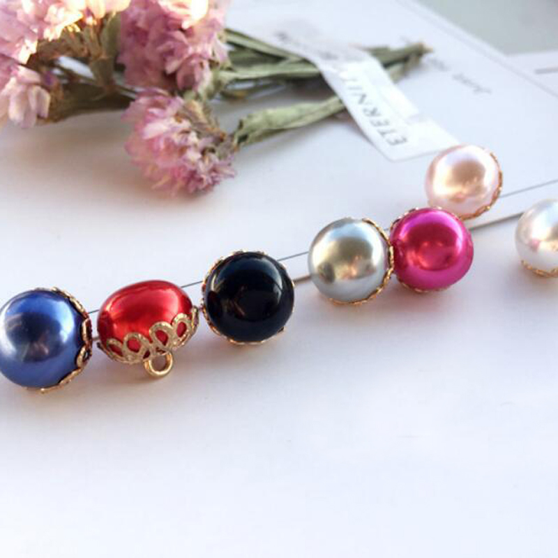 Buttons Diy Accessories High End Imitation Pearls Alloy Studded Glue On Disc Drill Deduction Rhinestones Accessories Flowers Home & Garden