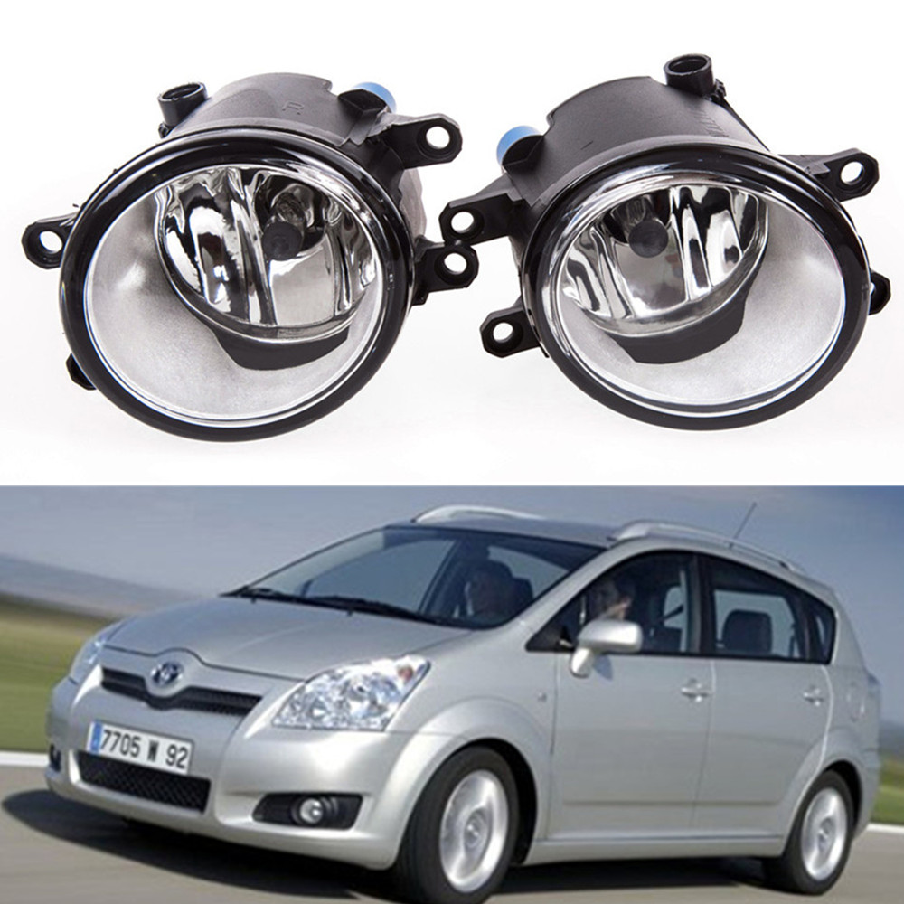 for car styling Front bumper Fog lights Toyota Corolla Verso (ZER_ZZE_R1_) 2004-2009fog lamps ( esquerda + direita )Halogen 1SET цена и фото