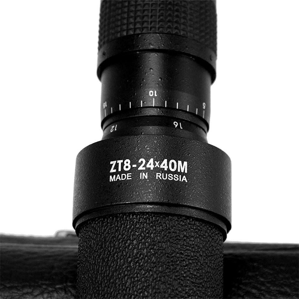 Tools : Baigish 8-24x40 zoom Monocular Telescope hd high quality Metal Optical lens Astronomical With Leather Bag Original Russian black