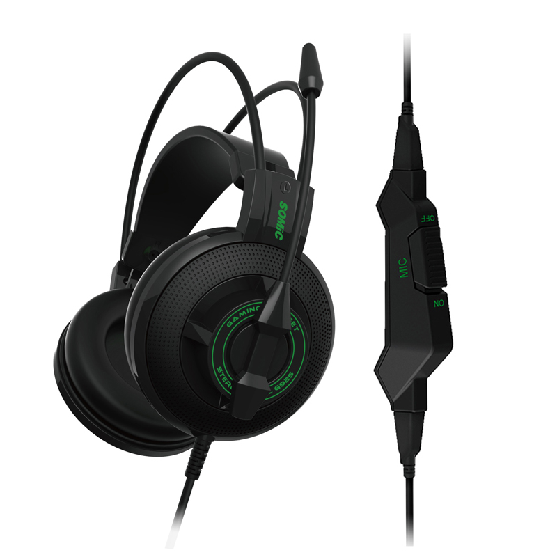 SOMiC G925 Original Gaming Headphone Over-ear Headset with Mic Headband Bass Stereo Sound for Laptop Computer PC Game original somic p7 headphones headband vibration game headphone 7 1 sound bass hifi folding gaming headset mobile pc earphone