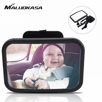MALUOKASA Mini Car Back Seat Baby View Mirror 2 In 1 Baby Rear Convex Mirror Adjustable