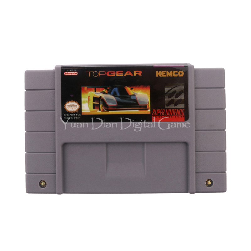Nintendo SFC SNES Video Game Cartridge Console Card Top Gear USA English Language Version