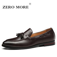 ZERO MORE Mens Casual Shoes Hot Sale Fashion Fringe Boat Black Shoes Men Slip On Tassel Loafers Male Shoes Casual Breathable
