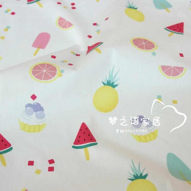 160 см * 50 см хлопчатобумажная ткань с фруктовым рисунком, Детский комплект кровати «сделай сам», одежда, платье, Лоскутная Ткань, Детская тряпка для домашней работы