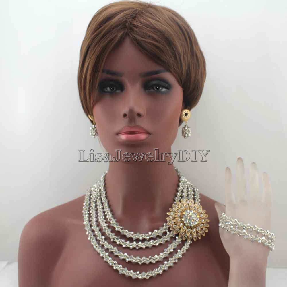 2016 Stylish Silver Nigerian Wedding African Beads Jewelry Set Handmade Indian Dubai Bridal Necklace Sets Free Shipping HD82102016 Stylish Silver Nigerian Wedding African Beads Jewelry Set Handmade Indian Dubai Bridal Necklace Sets Free Shipping HD8210