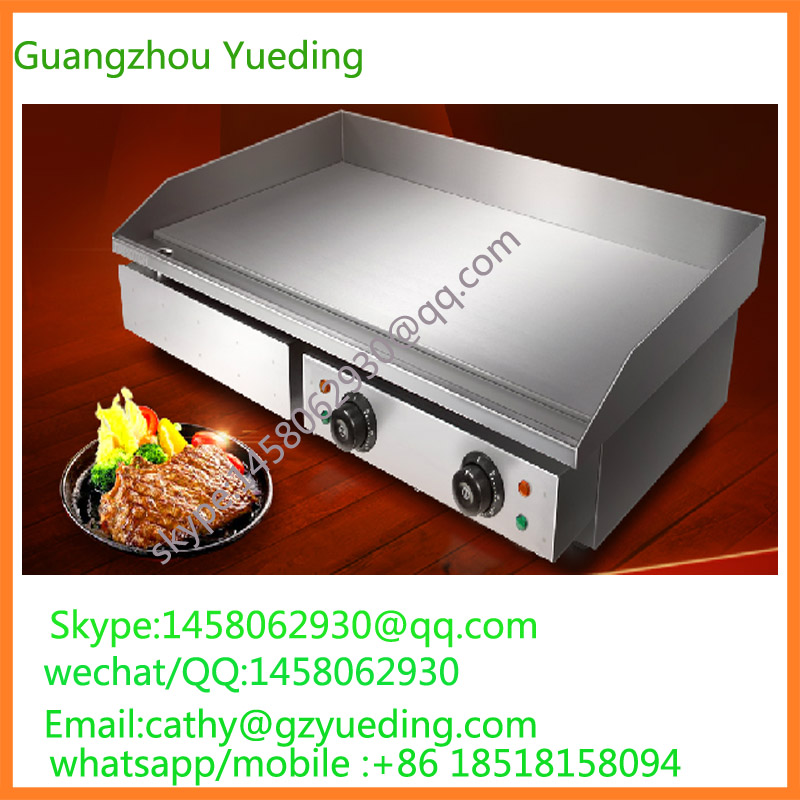 China 4.4KW Restaurant Electric Tabletop Stainless steel Griddle For Pancake