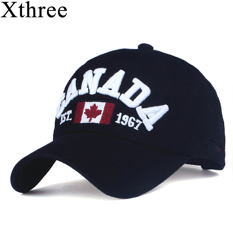 XTHREE brand canada letter embroidery Baseball Caps Snapback hat for Men women  Leisure Hat cap wholesale voron 2017 cotton gorras canada baseball cap flag of canada hat snapback adjustable mens baseball caps brand snapback hat